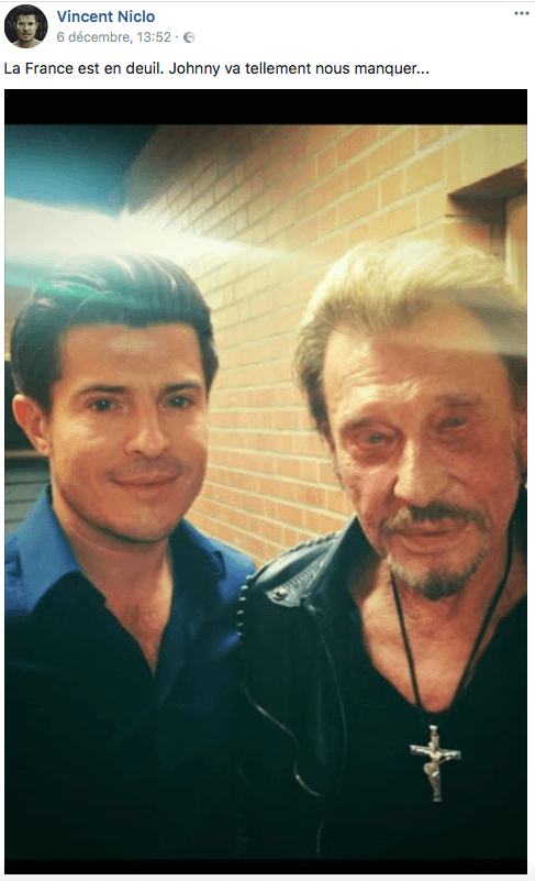 Vincent Niclo et Johnny Hallyday